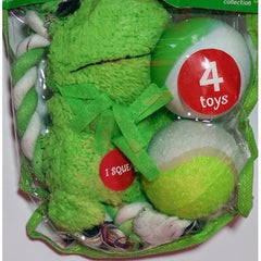 Grreat Choice Green Frog Plush Toy Pack (4 Toys)