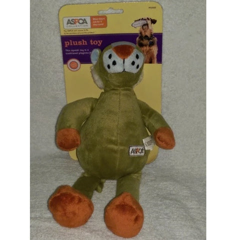 ASPCA Squeaky Green Tiger Plush