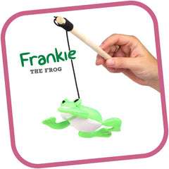 Beco Pets Cat Wand Frankie The Frog