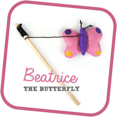 Beco Pets Cat Wand Beatrice The Butterfly