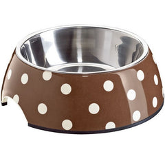Hunter Melamine Bowl Brown & White Polka Dots