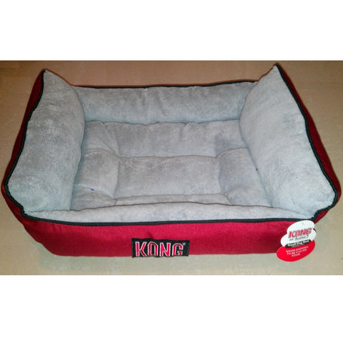 Kong At Home Pet Bed Red & Gray