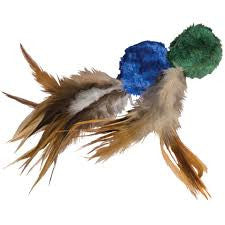 KONG Naturals Catnip Crinkle Ball With Feathers