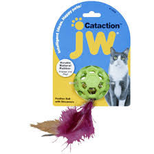 Petmate JW Feather Ball Cat Toy With Bell