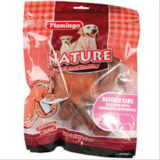 Flamingo Buffalo Ears Dog Chew