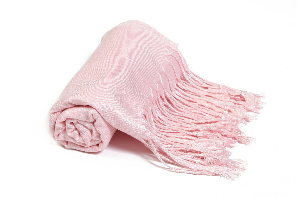 Solid Color Pashmina Baby Pink