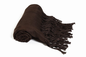 Solid Color Pashmina Brown