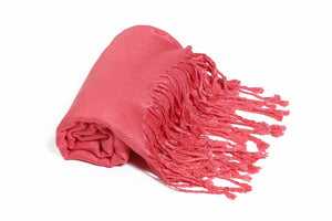 Solid Color Pashmina Coral