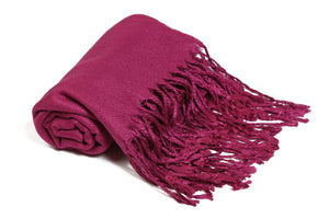 Solid Color Pashmina Magenta