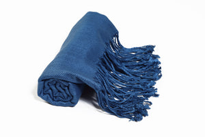 Solid Color Pashmina Peacock