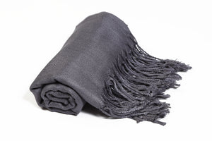 Solid Color Pashmina Pewter