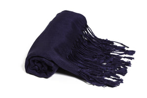 Solid Color Pashmina Navy