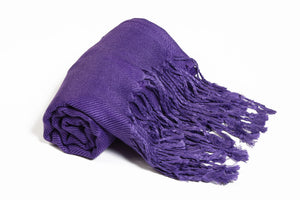 Solid Color Pashmina Purple