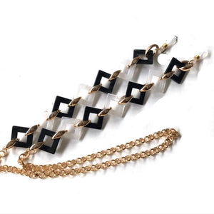 Chain Holder Luxury Square Link B & W