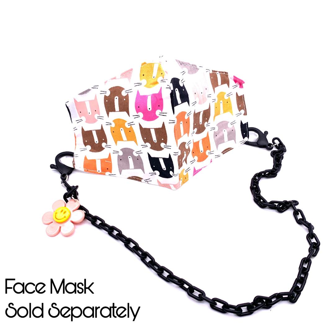 Chain Holder KIDS Flower Black