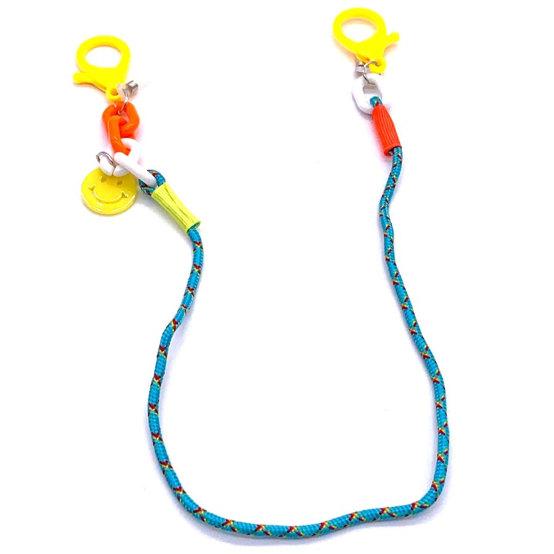 Chain Holder KIDS Smiley Face Blue