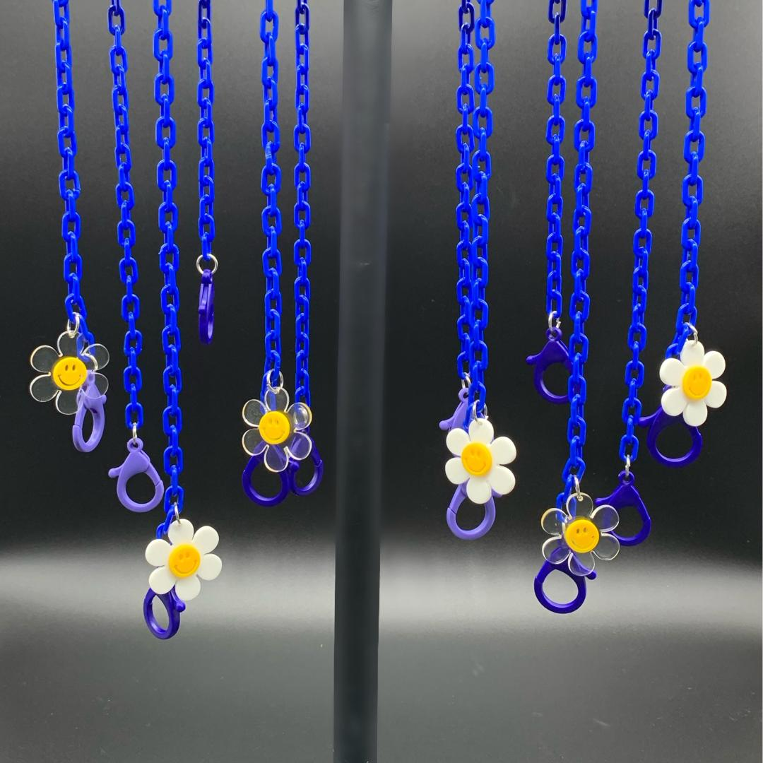 Chain Holder KIDS Flower Royal Blue