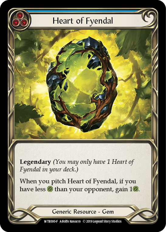 Heart of Fyendal [WTR000-F] Alpha Print Cold Foil | Fab Empire