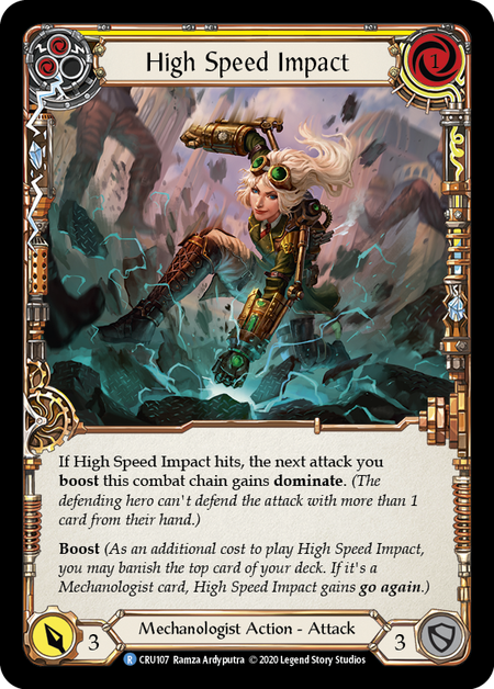 High Speed Impact (Yellow) - Foil | Fab Empire