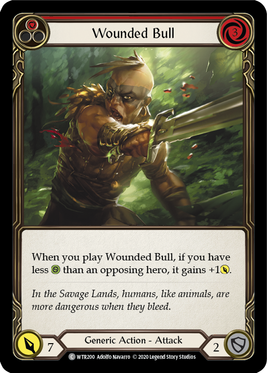 Wounded Bull (1) (Foil) - [UNLIMITED] | Fab Empire