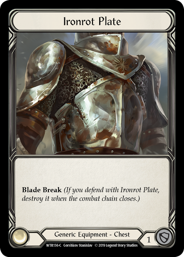 Ironrot Plate (Cold Foil) | Fab Empire