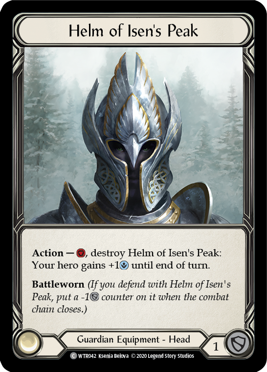 Helm of Isen's Peak [WTR042] Unlimited Edition Rainbow Foil | Fab Empire
