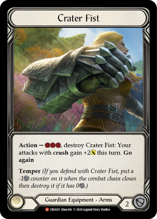Crater Fist [CRU025] 1st Edition Normal | Fab Empire