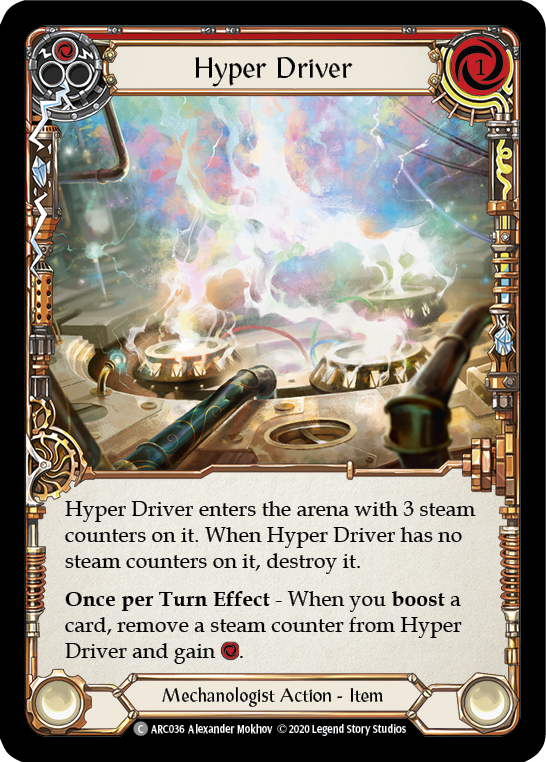 Hyper Driver [ARC036] Unlimited Edition Rainbow Foil | Fab Empire