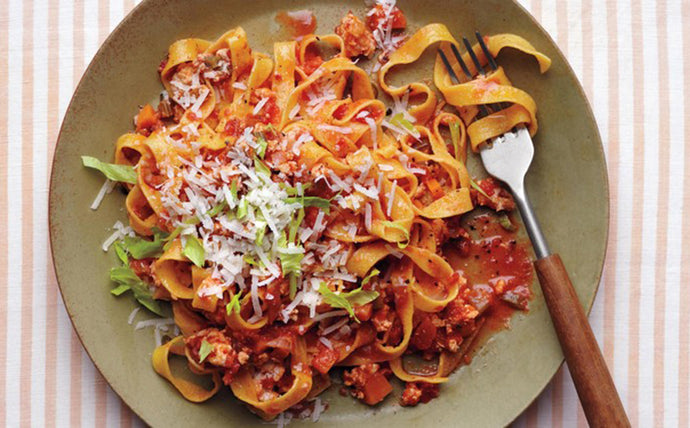 Chicken Bolognese with Tagliatelle