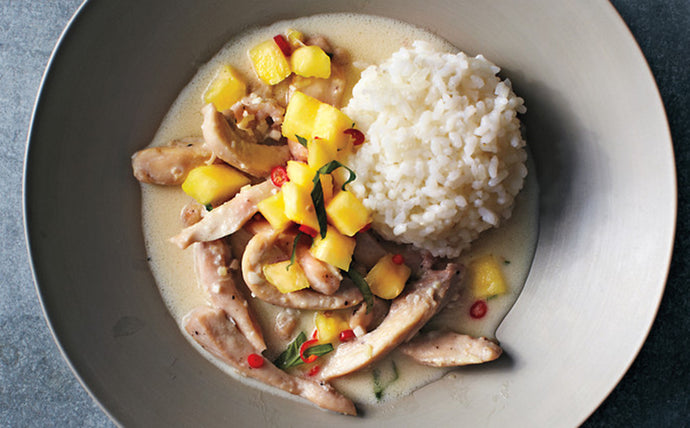 Thai Coconut Chicken with Pineapple Salsa