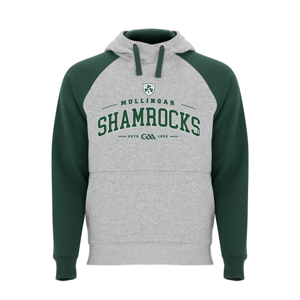 Mullingar Shamrocks GAA Detroit Hoodie / Bottle Green / Melange Grey