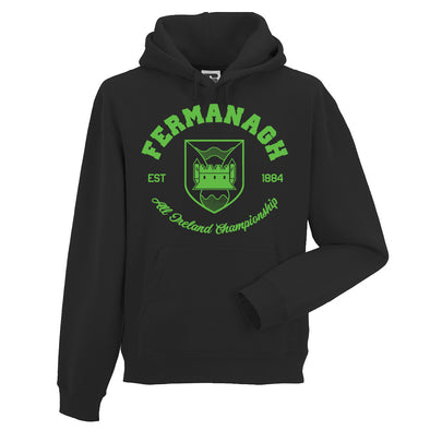 KCS County 'Fermanagh' Hoodie / Green / Black