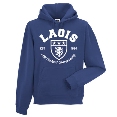 KCS County 'Laois' Hoodie / White / Royal Blue