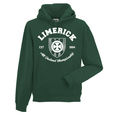KCS County 'Limerick' Hoodie / White / Bottle Green