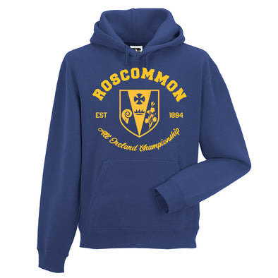 KCS County 'Roscommon' Hoodie / Gold / Royal Blue