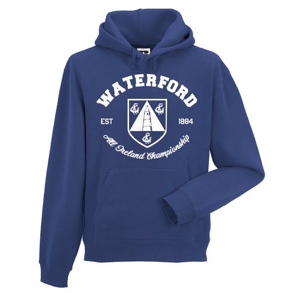 KCS County 'Waterford' Hoodie / White / Royal Blue