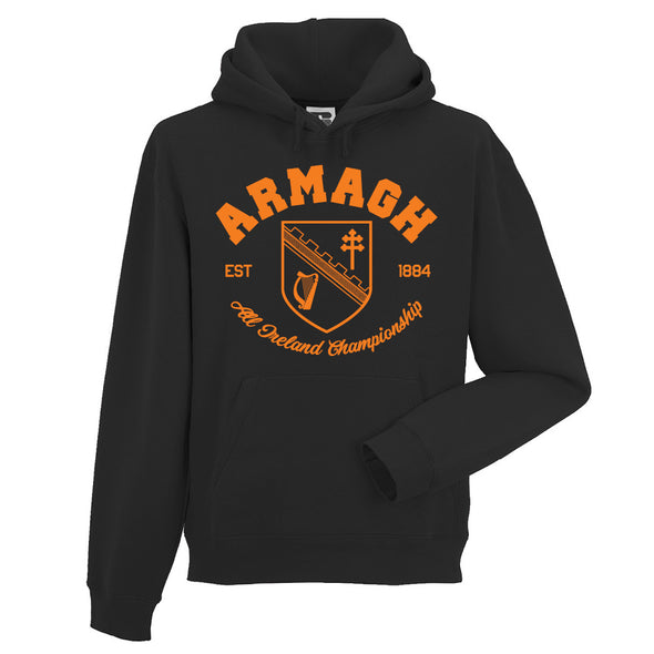KCS County 'Armagh' Hoodie / Orange / Black