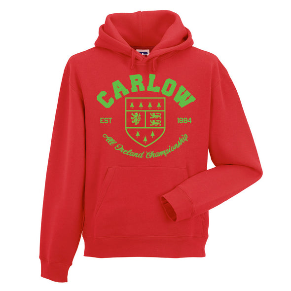 KCS County 'Carlow' Hoodie / Green / Red