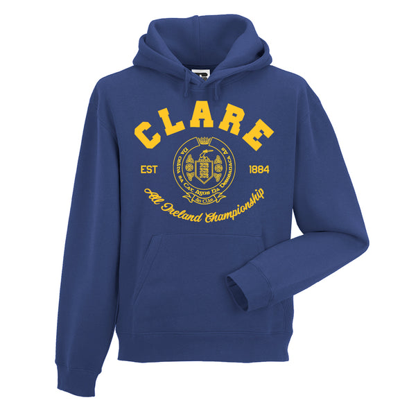 KCS County 'Clare' Hoodie / Gold / Royal Blue