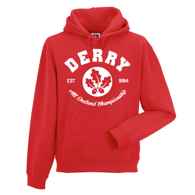 KCS County 'Derry' Hoodie / White / Red