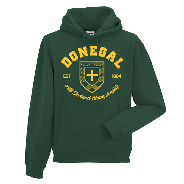 KCS County 'Donegal' Hoodie / Gold / Bottle Green