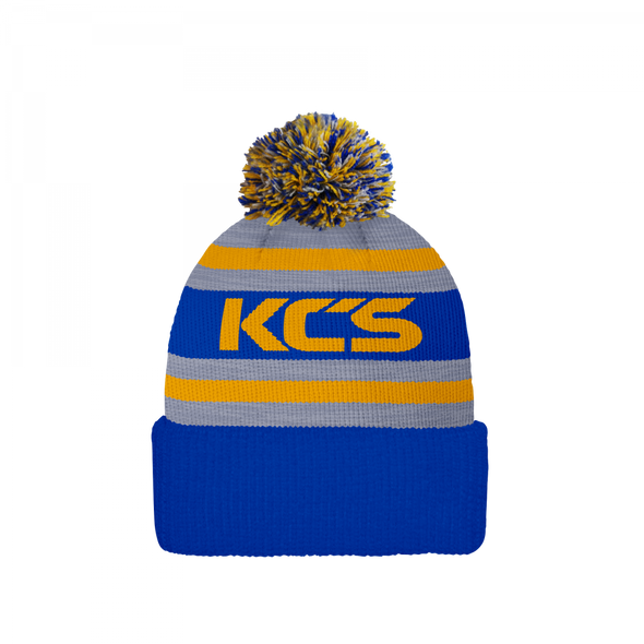 NFL Beanie Hat (Royal, Grey & Gold)