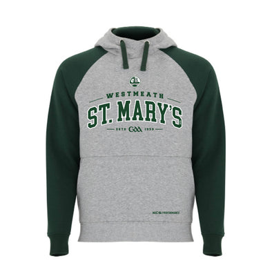 St Mary's Rochfortbridge GAA Detroit Hoodie / Green / Melange Grey