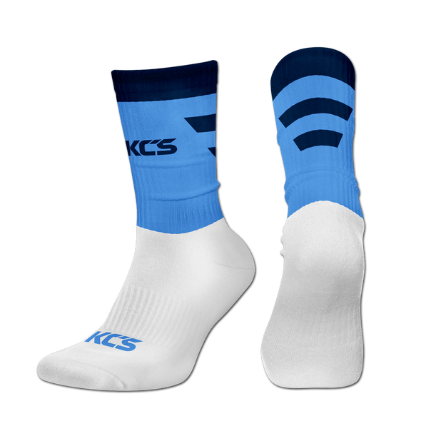 Exolite Socks (SkyBlue/Navy-Half Stripe)