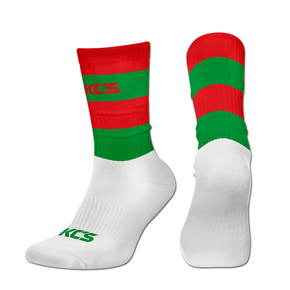 Exolite Socks (Red/Green-Full Stripe)
