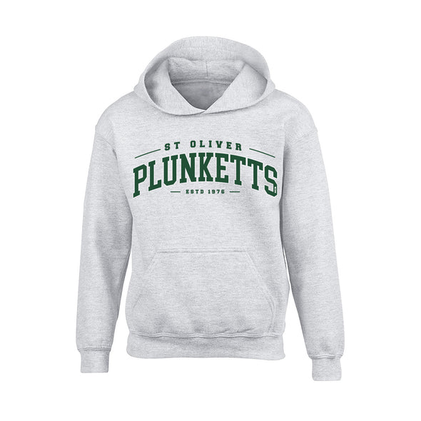 Oliver Plunketts - Detroit Junior Hoodie / Green / White / Melange Grey