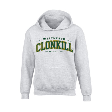 Clonkill - Detroit Junior Hoodie / Green / White / Melange Grey