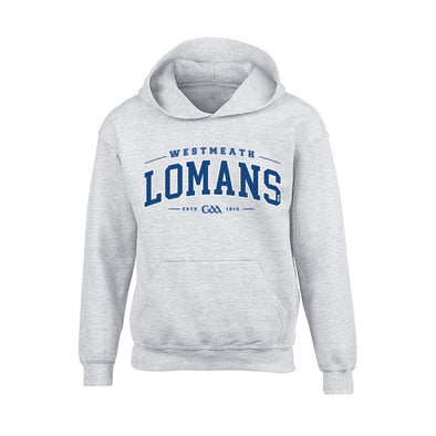 St. Loman' GAA - Detroit Junior Hoodie / Royal Blue / White / Melange Grey