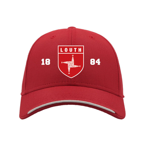 KCS Louth Baseball Cap / White / Red