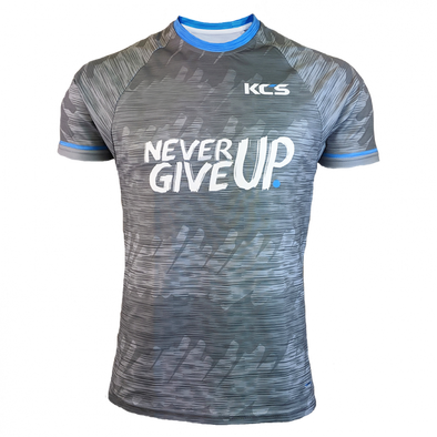 KCS Never Give Up Jersey (Blue / Grey Melange)